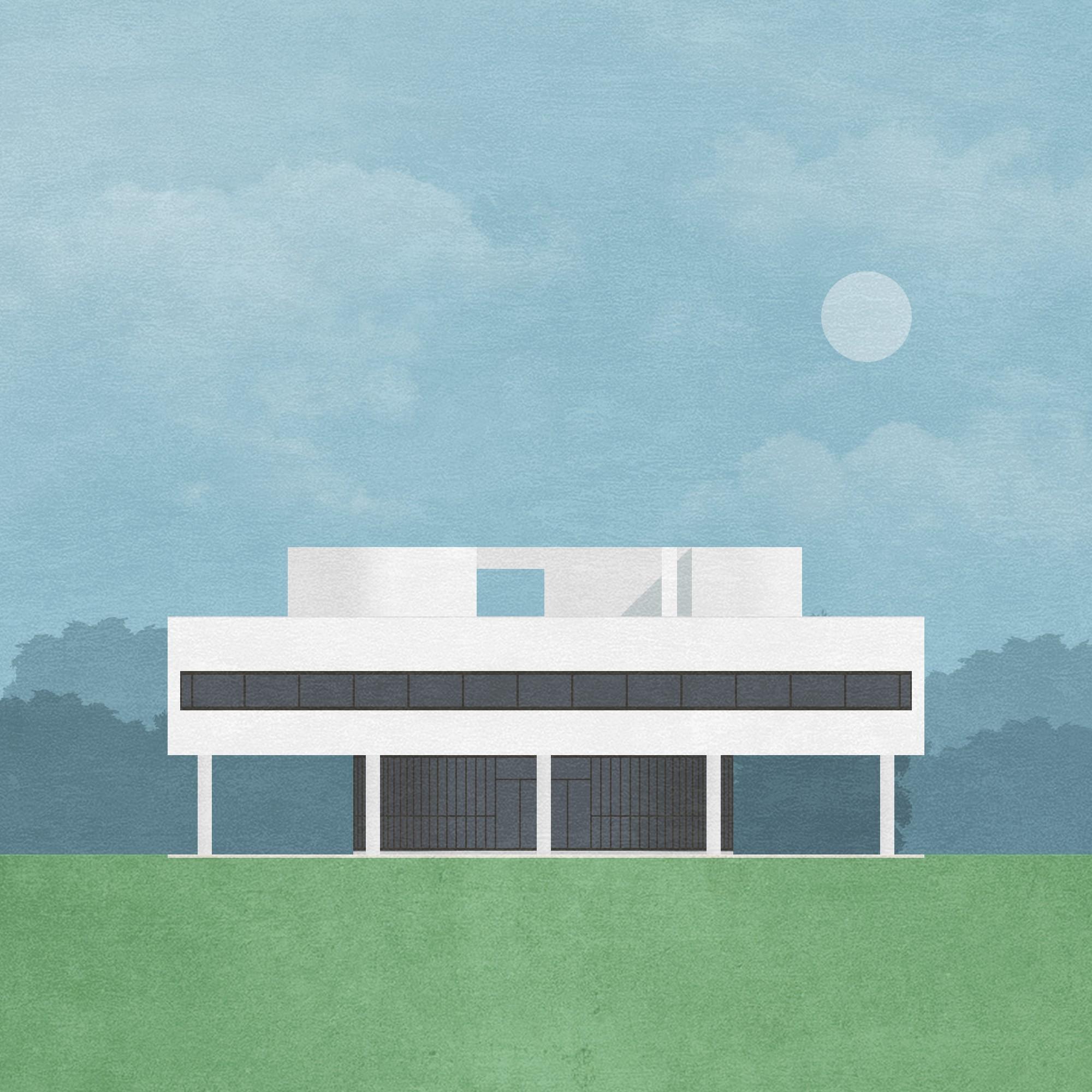 villa savoye graphic