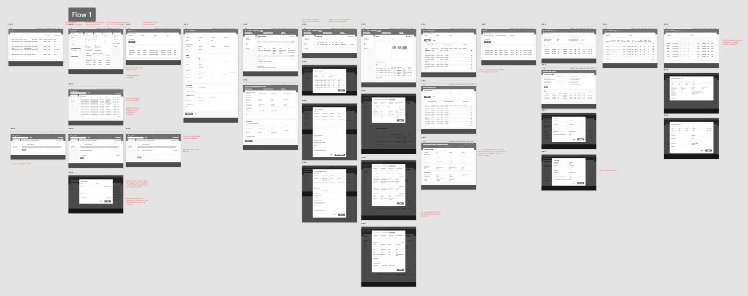 HHA Payer Platform XD wireframe prototype