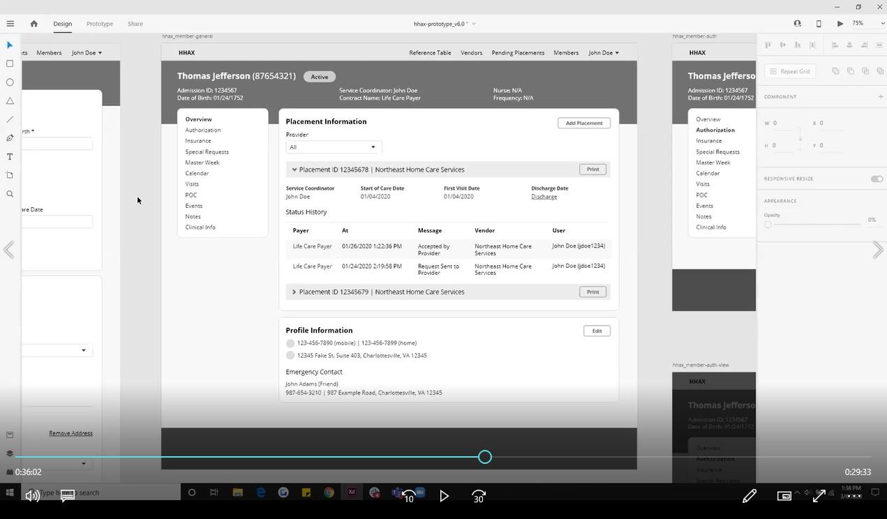 HHA Payer Platform wireframe feedback