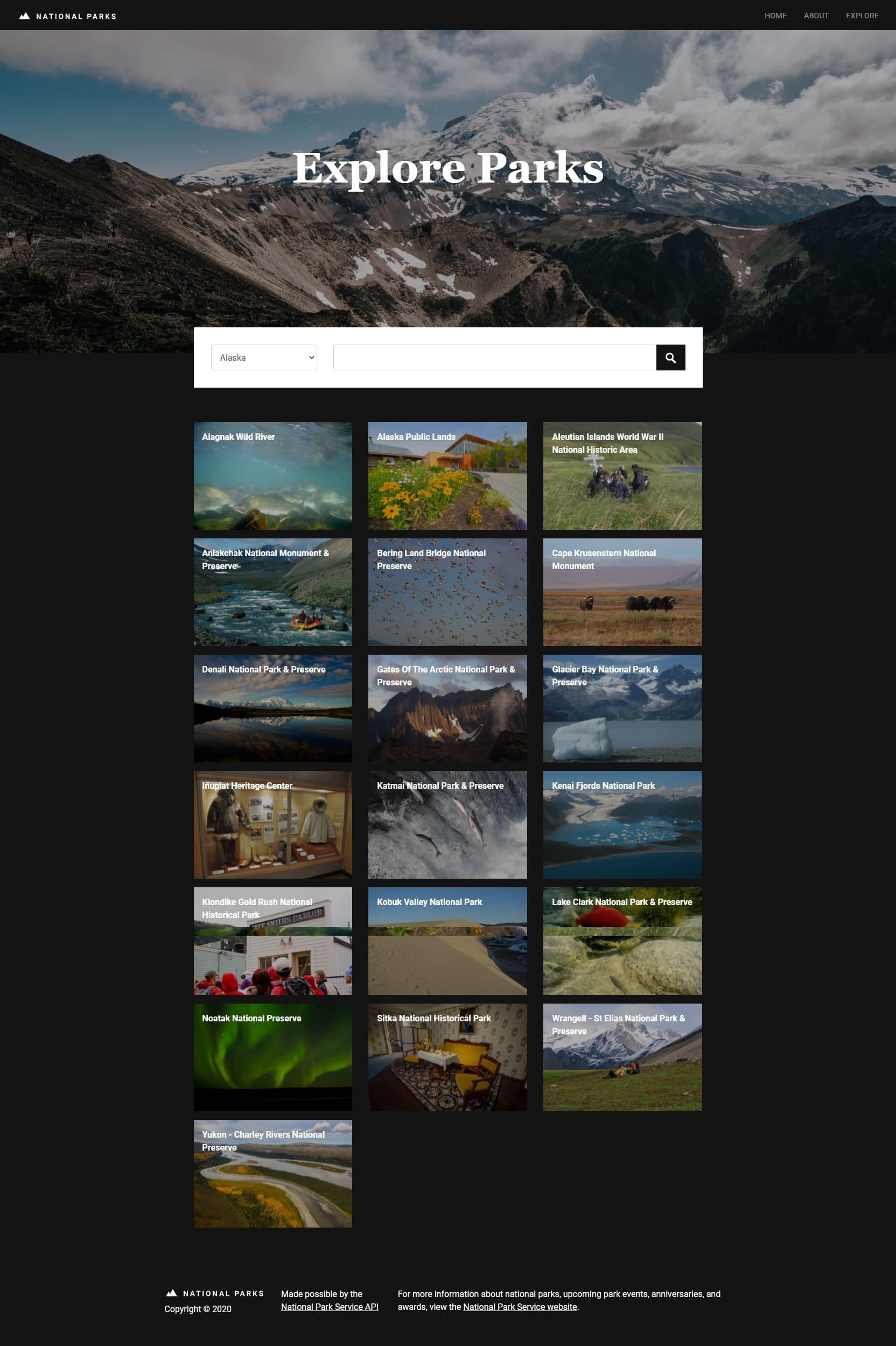 National parks - Explore